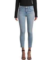 835 mid-rise racing stripe crop skinny jeans
