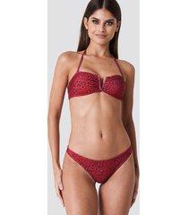 na-kd swimwear bikini panty - red