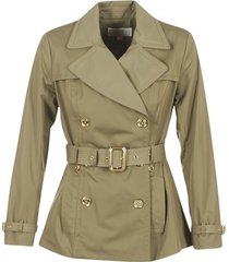 trenchcoat michael michael kors short pleated trench