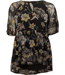 maui ss top ms18 blouses short-sleeved zwart gestuz