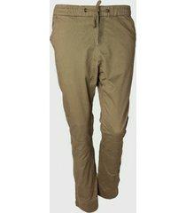 pantalon teen  jogger cortes verde oscuro family shop