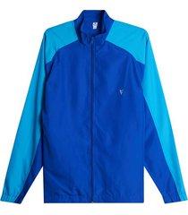 chaqueta sudadera con cortes color azul, talla s