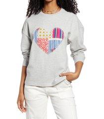women's bp. oversize crewneck sweatshirt, size xx-small - grey