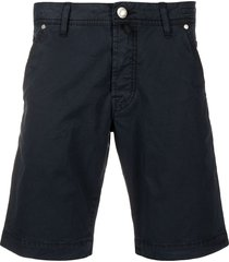 jacob cohen fitted knee-length shorts - blue