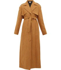 blythe checked wool trench coat