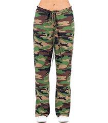 women's camo print drawstring lounge pants