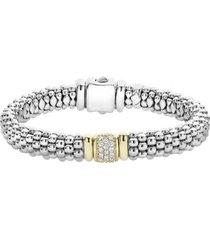 women's lagos caviar & diamond bracelet