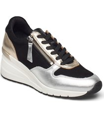 woms lace-up sneakers skor svart tamaris