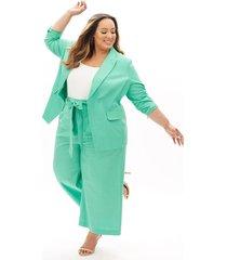 lane bryant women's beauticurve blazer 20 jade green