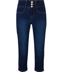 jeans i powerstretch, 3/4-längd