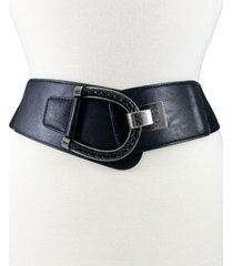 women's inset braided buckle with stretch back