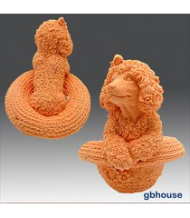 3d silicone soap and candle mold – puppy in straw hat
