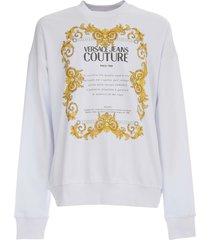versace jeans couture cotton oversized sweatshirt 44 transfer