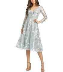 mac duggal embellished embroidered dress