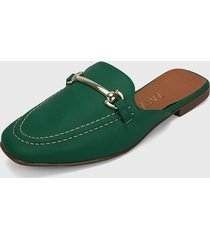slipper verde-plateado zatz