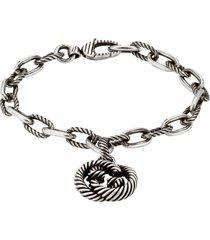 gucci interlocking g charm bracelet, size 6.25 in sterling at nordstrom