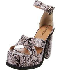 sandalia de cuero animal print heyas herika