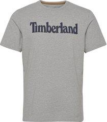 k-r brand linear t t-shirts short-sleeved grå timberland