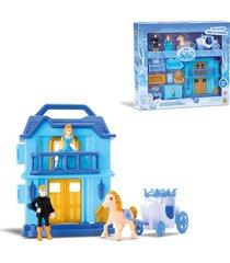 casinha castelo com luz princesa do gelo – samba toys