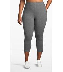lane bryant women's active essential capri legging 26/28 medium heather gray