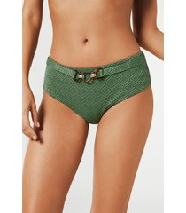 calzedonia amelia high-waisted bikini bottoms woman green size 4