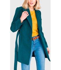 chaquetón ash moufon liso verde - calce regular