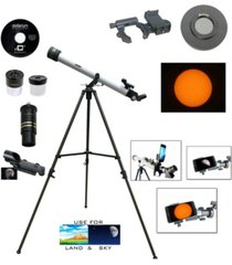cassini 800mm x 60mm day and night telescope kit plus smartphone adapter and solar filter cap