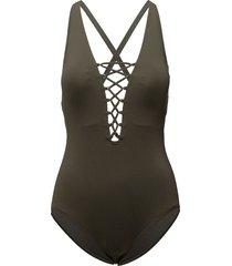 x-back 1pcs baddräkt badkläder svart michael kors swimwear