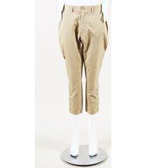 bakkurri beige cropped pants beige sz: s