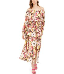 inc off-the-shoulder floral-print maxi dress, created for macy's