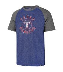 '47 brand texas rangers men's tri-blend raglan t-shirt