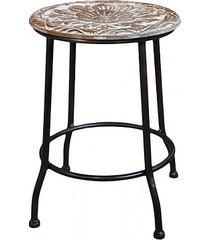 stołek barowy na metalowych nogach flor