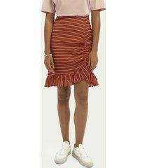 scotch & soda ruffled tencel™-blend skirt