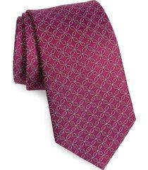 men's david donahue woven silk tie, size one size - purple