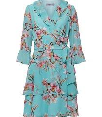 marella jurk ikebana mint groen blauw