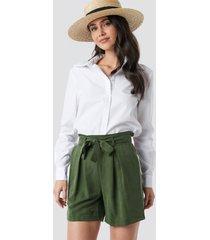 trendyol binding detailed lyocell shorts - green
