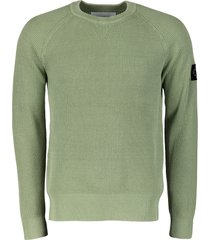 calvin klein sweater - slim fit - groen