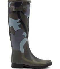 women's refined slim fit rockpool camo gum tall rain boots