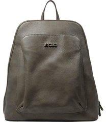 mochila de couro recuo fashion bag cinza
