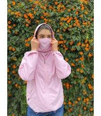 chaqueta anti-fluido rosado