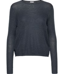 ines mohair sweater gebreide trui blauw filippa k