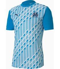 olympique de marseille stadium sporttrui voor heren, blauw/wit, maat l | puma