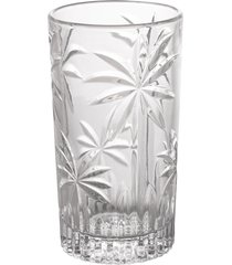 conjunto 6 copos altos cristal palm tree 330ml