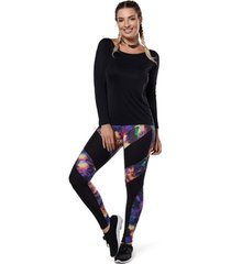 legging compression aurora black abusy - feminina