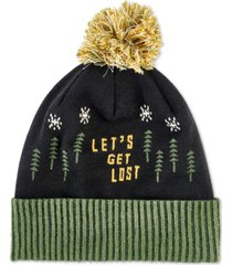 united by blue men's let's get lost pom beanie