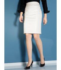 kjol med formande effekt miamoda offwhite