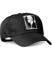 karl lagerfeld designer women's hats, karl legend black cap