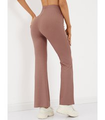 yoins basics de punto informal con pierna ancha y cintura alta pantalones