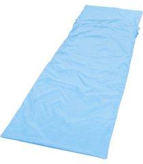 hoja de dormir bolsa de revestimiento viaje del sueño saco senderismo tienda de campaña de la estera del cojín azul