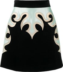 zimmermann western-panel mini skirt - black